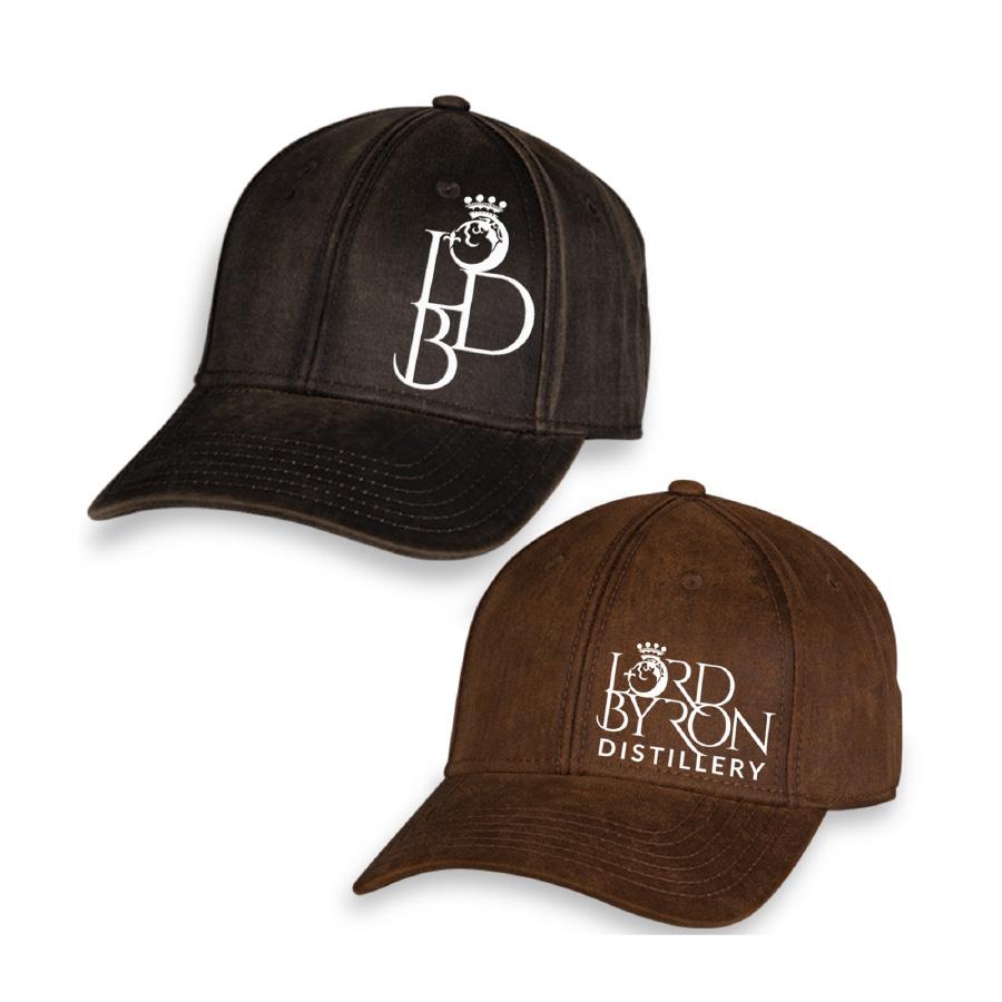 Lord Byron Distillery Uniform and merchandise cap designs