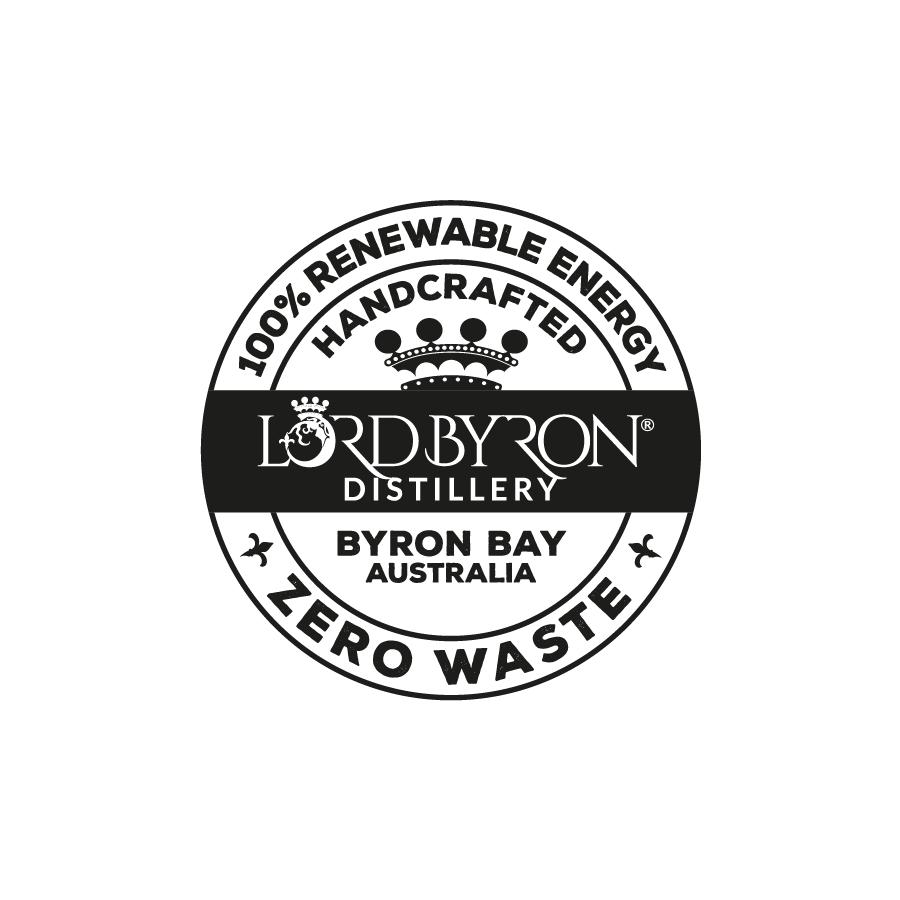Lord Byron Distillery 100% Renewable Badge