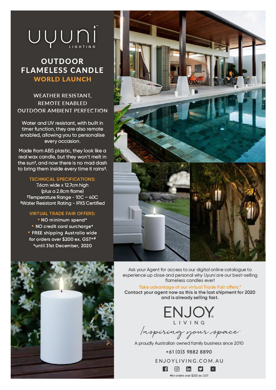 Enjoy Living Uyuni Outdoor Flameless Candle Flyer
