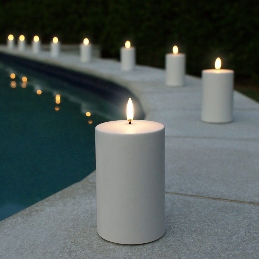 Enjoy Living Photography Outdoor Flameless Candle Poolside
