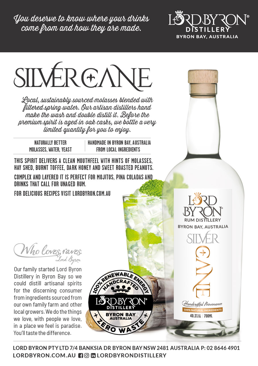 Lord Byron Distillery Pina Spiced Silver Cane Display Cards