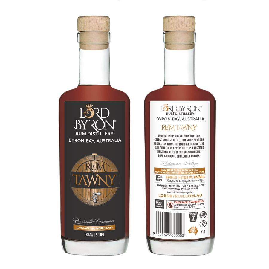 Lord Byron Distillery Rum Tawny Design