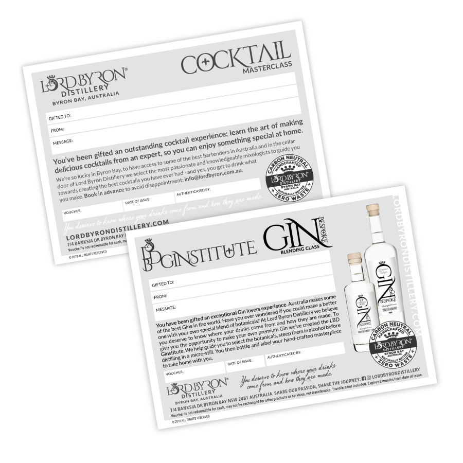 Lord Byron Distillery Gift Vouchers