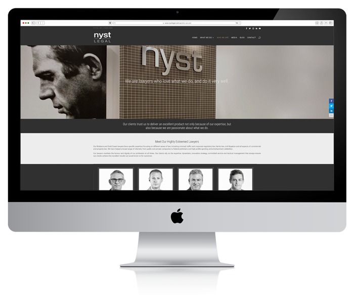 Nyst Legal Website Development 1
