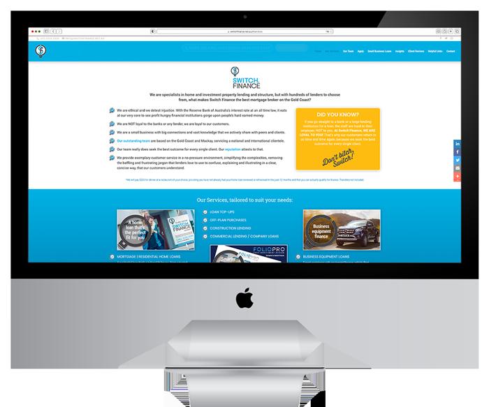 Switch Finance Website Development