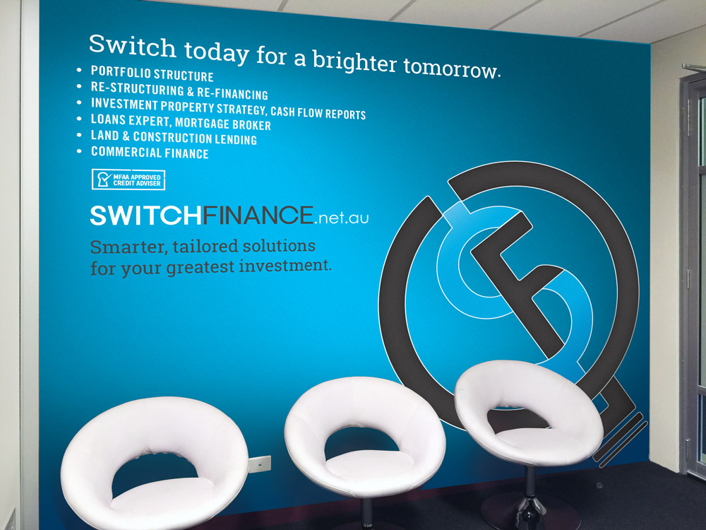 Switch Finance Entrance Graphics
