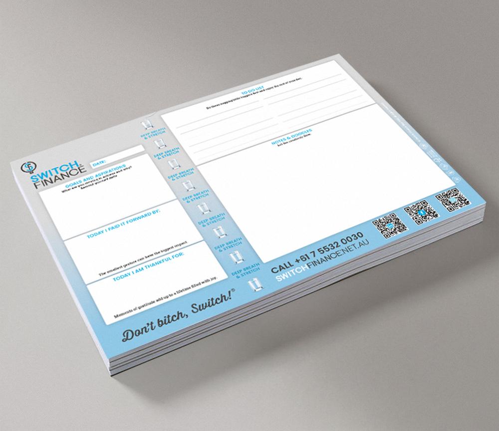 Switch Finance Notepads