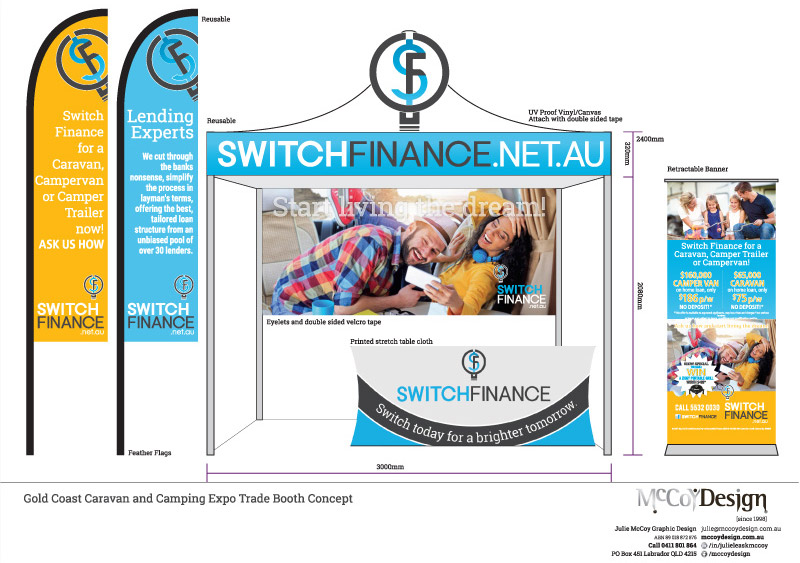 Switch Finance Trade Display Booth