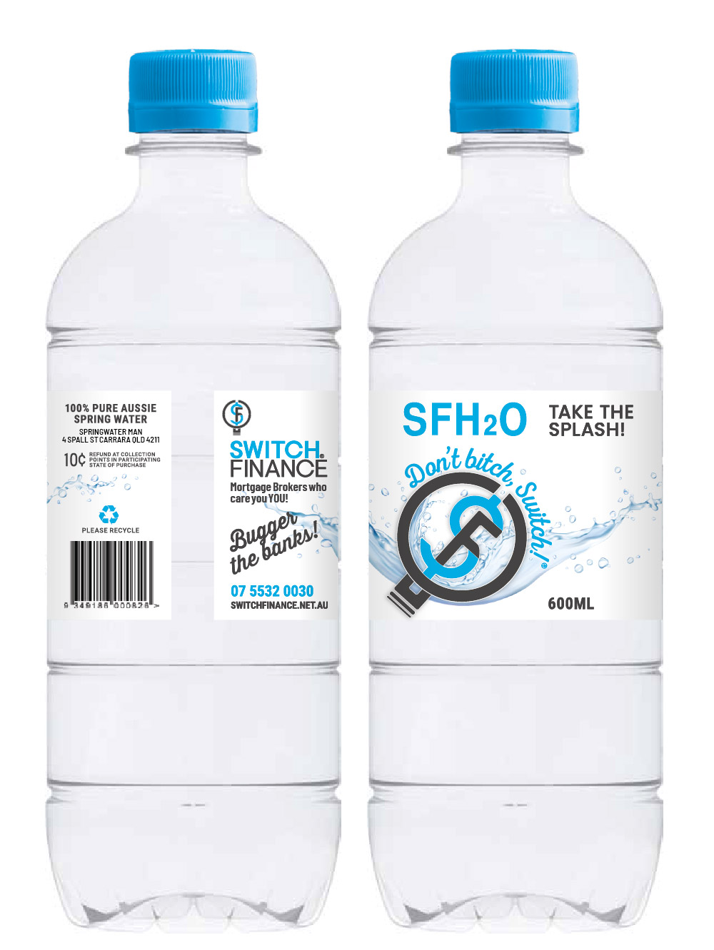 Switch Finance Water Bottle