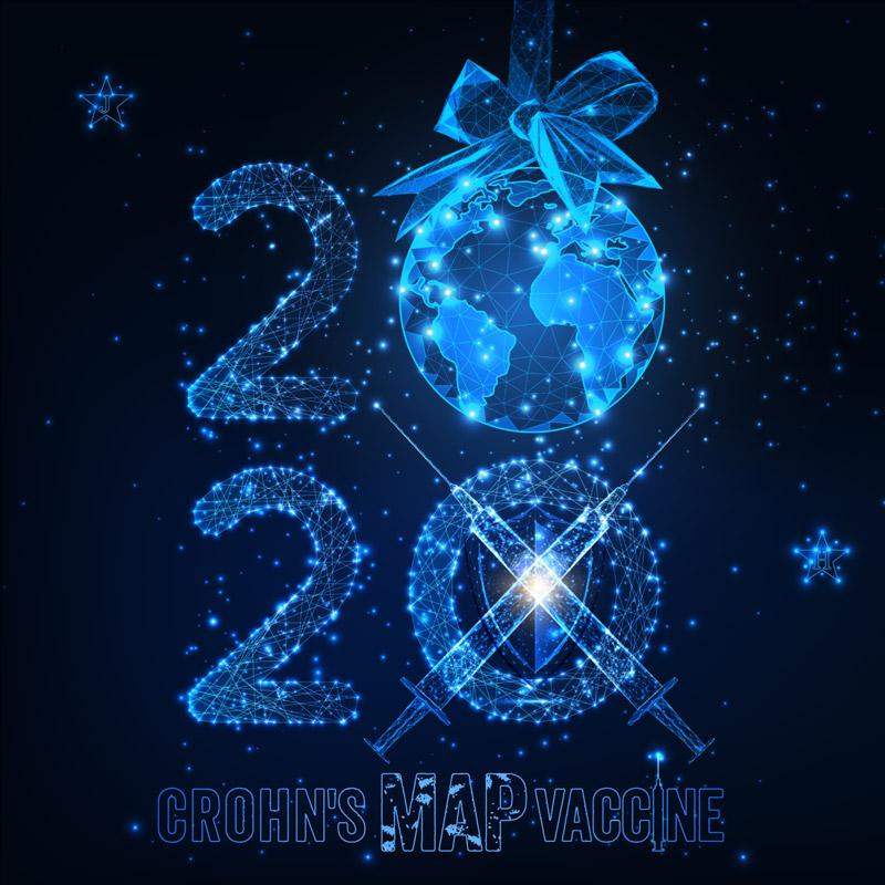Crohn's MAP Vaccine 2020 New Year Campaign