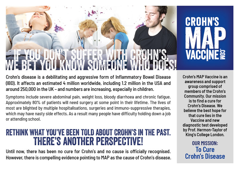 Crohn's MAP Vaccine A5 Flyer Front