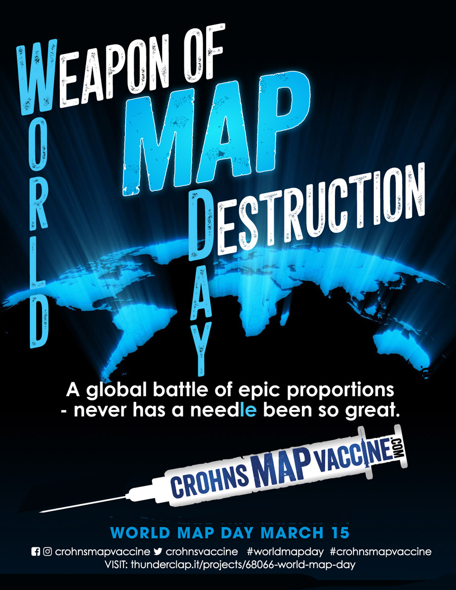 Crohn's MAP Vaccine World MAP Day Poster