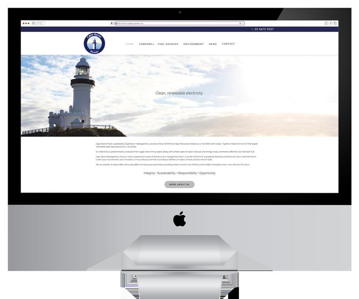 Cape Byron Power Website Design and Development 2