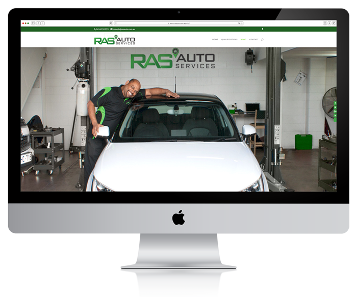 RAS Auto Southport Website Design