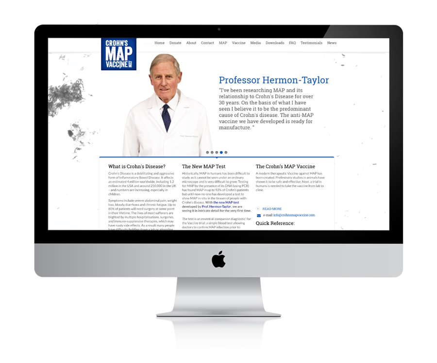Julie McCoy Crohn's MAP Vaccine Website Development with Professor John Hermon-Taylor