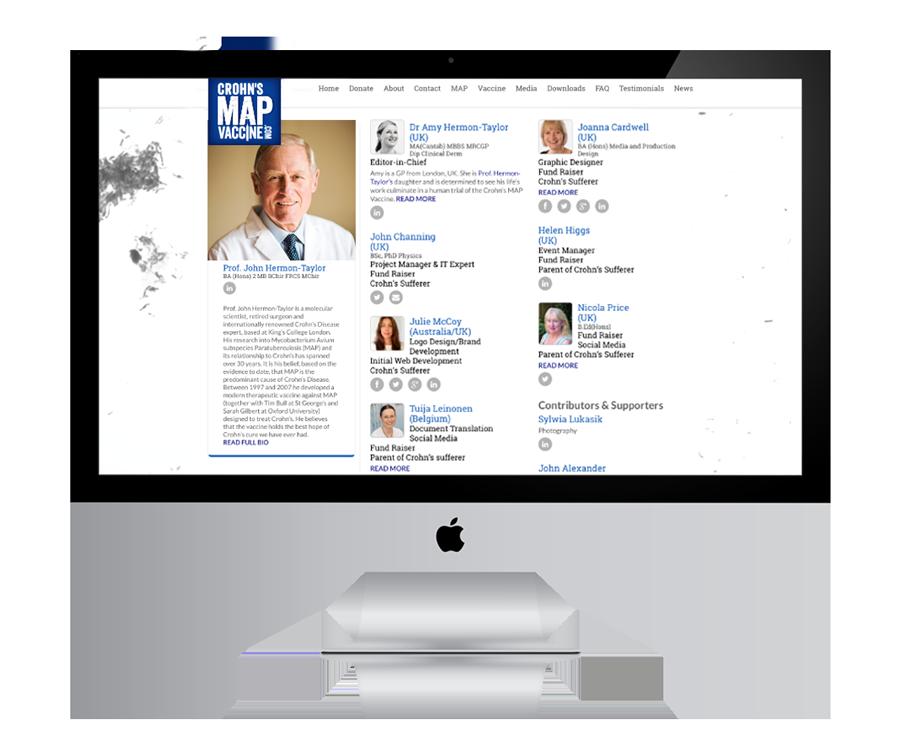 Julie McCoy Crohn's MAP Vaccine Website Development - The Team