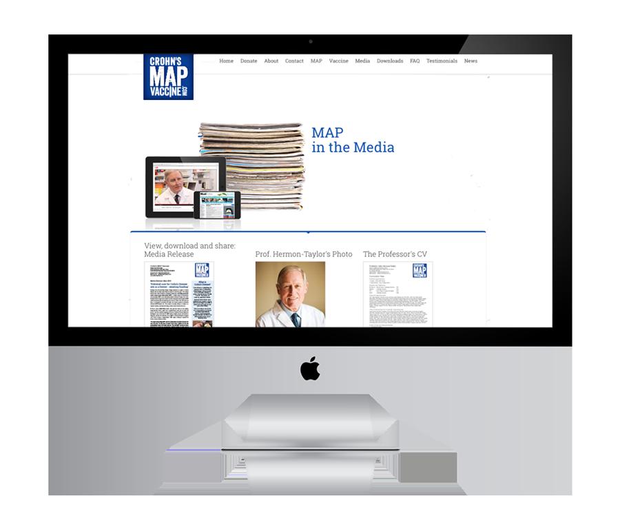 Julie McCoy Crohn's MAP Vaccine Website Development - MAP in the media