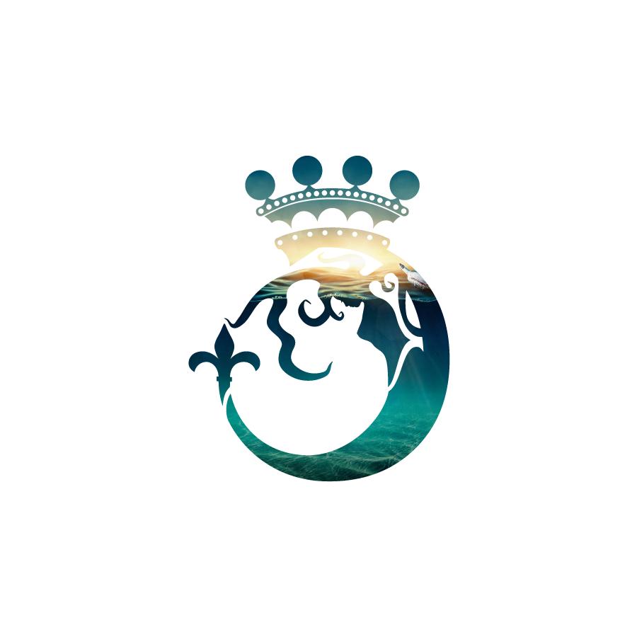 Lord Byron Distillery Mermaid Icon Design
